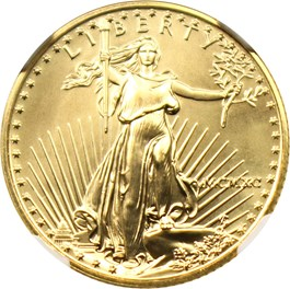 Image of 1990 Gold Eagle $10 NGC MS69
