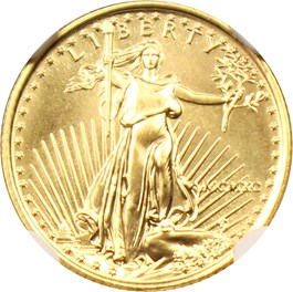 Image of 1990 Gold Eagle $5 NGC MS68