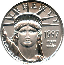 Image of 1997 Platinum Eagle $25 NGC MS69