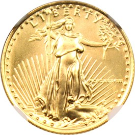Image of 1988 Gold Eagle $5 NGC MS68