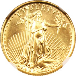 Image of 1990 Gold Eagle $5 NGC MS67