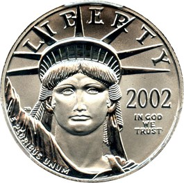 Image of 2002 Platinum Eagle $50 PCGS MS69