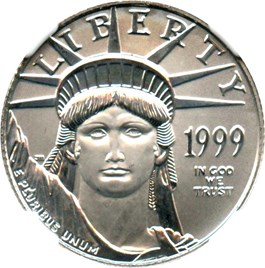 Image of 1999 Platinum Eagle $25 NGC MS69