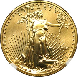 Image of 1990 Gold Eagle $25 NGC MS69