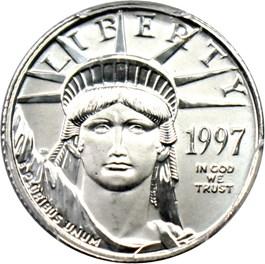 Image of 1997 Platinum Eagle $10 PCGS MS69