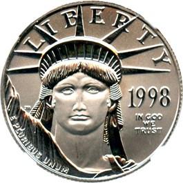 Image of 1998 Platinum Eagle $50 NGC MS69