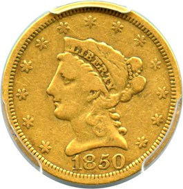 Image of 1850 $2 1/2 PCGS F15
