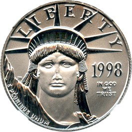 Image of 1998 Platinum Eagle $50 NGC MS69