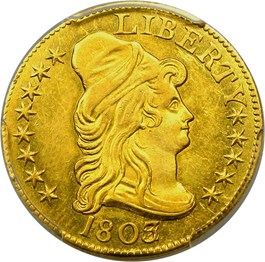 Image of 1803/2 $5 PCGS MS62
