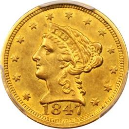 Image of 1847-C $2 1/2 PCGS AU53