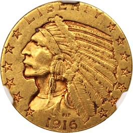 Image of 1916-S $5 NGC AU55
