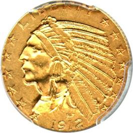 Image of 1912-S $5 PCGS AU53