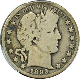 Image of 1893-S 50c PCGS Good-06
