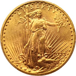 Image of 1923 $20 PCGS MS63