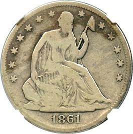 Image of 1861-O 50c NGC Good-06
