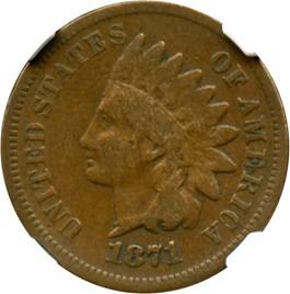 Image of 1871 1c NGC VG-10 BN