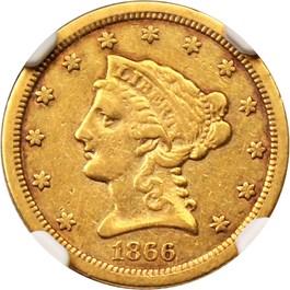 Image of 1866-S $2 1/2 NGC XF40