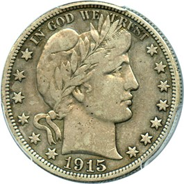 Image of 1915-S 50c PCGS VF20