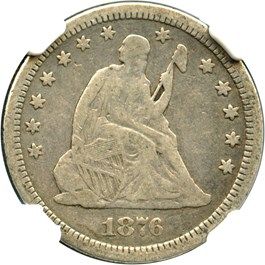 Image of 1876-CC 25c NGC F12