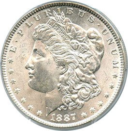 Image of 1887 $1 PCGS/CAC MS65