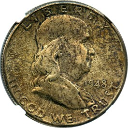 Image of 1948-D 50c NGC MS64 FBL
