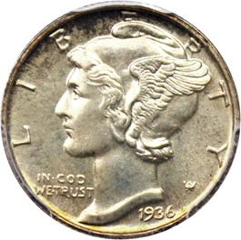 Image of 1936 10c PCGS/CAC Proof 66