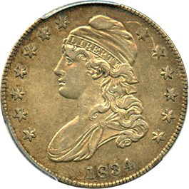 Image of 1834 50c PCGS/CAC XF45 (Small Date, Small Letters)