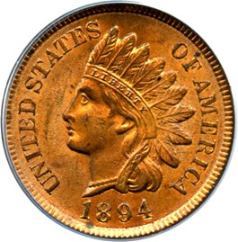 Image of 1894 1c PCGS/CAC MS64 RB