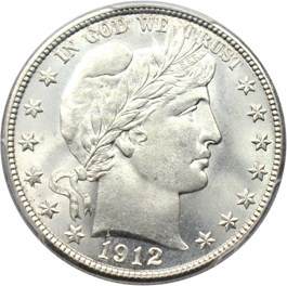 Image of 1912-D 50c PCGS/CAC MS65