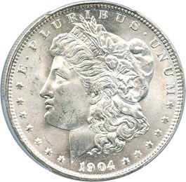 Image of 1904-O $1 PCGS/CAC MS65