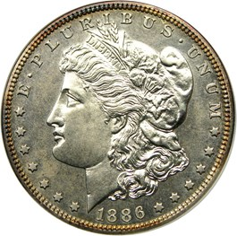 Image of 1886 $1 NGC/CAC Proof 63