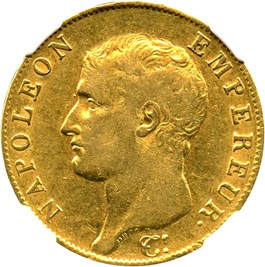 Image of France: AN 13-A Gold 40 Franc NGC XF45 (KM-664.1)