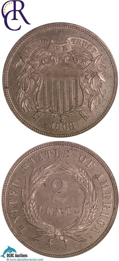 Image of 1868 2c  NGC Proof 63 RB ex: Richmond Collection