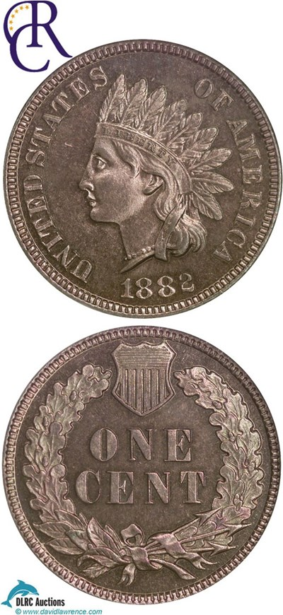 Image of 1882 1c  NGC Proof 64 RB ex: Richmond Collection