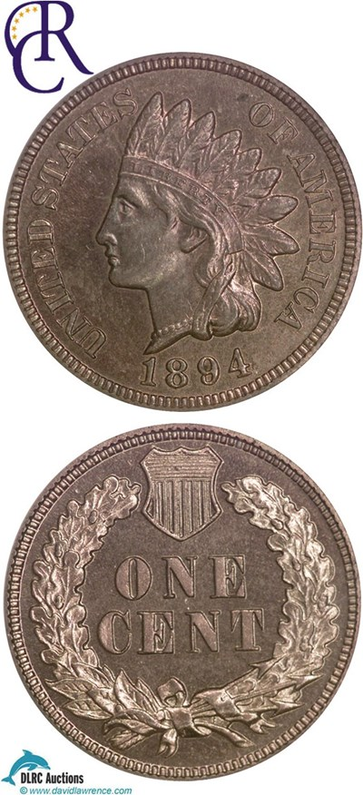 Image of 1894 1c  NGC Proof 64 RB ex: Richmond Collection