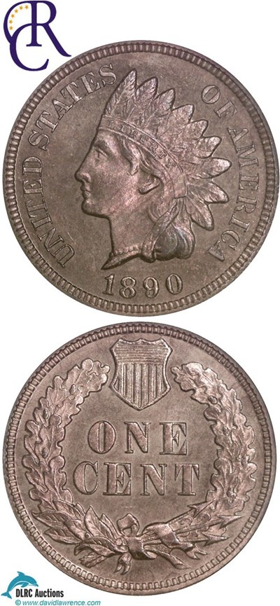 Image of 1890 1c  NGC Proof 64 RB ex: Richmond Collection