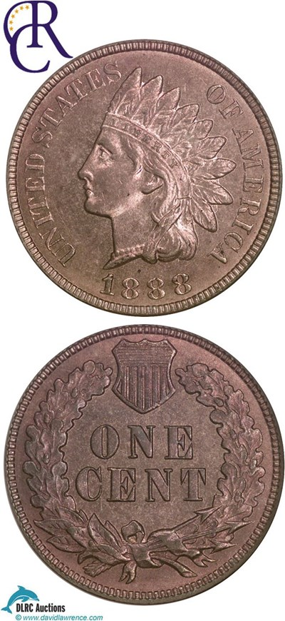 Image of 1888 1c  NGC MS64 RB ex: Richmond Collection