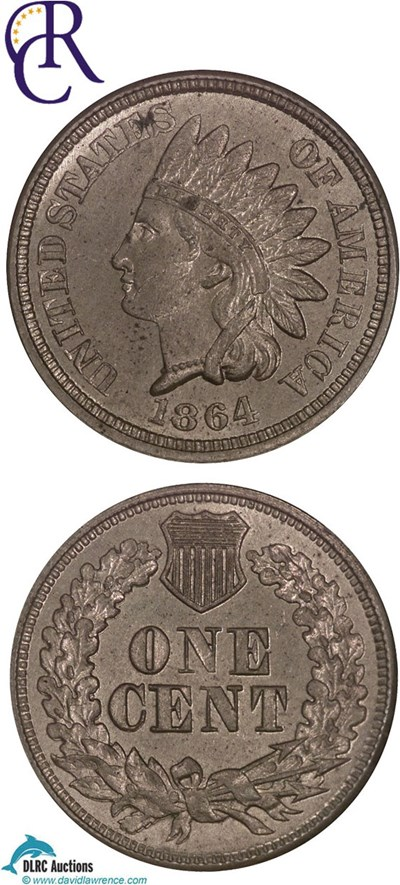 Image of 1864 1c CN NGC MS63  ex: Richmond Collection