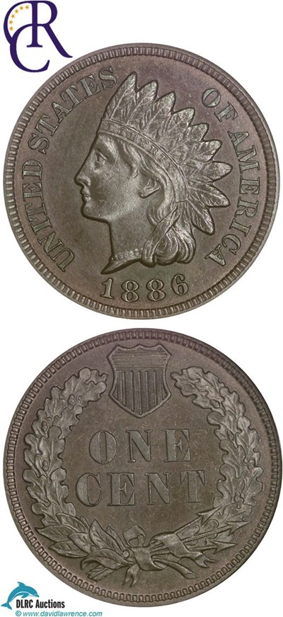 Image of 1886 1c Type 1 NGC Proof 64 BN ex: Richmond Collection