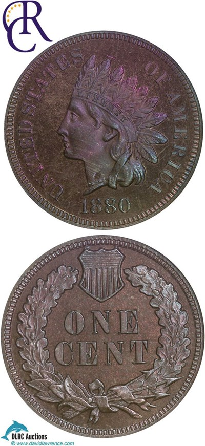 Image of 1880 1c  NGC Proof 65 RB **Color** ex: Richmond Collection