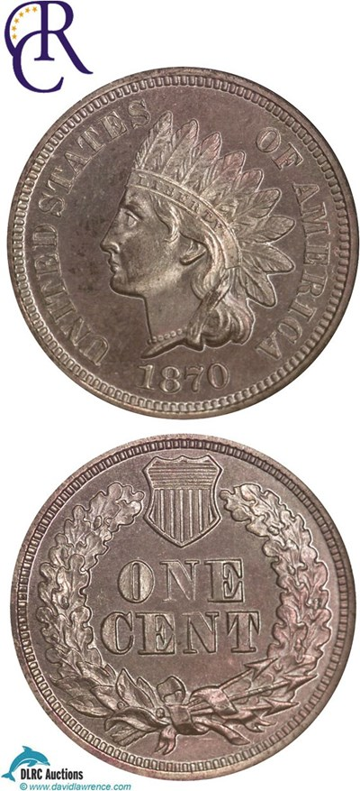 Image of 1870 1c  NGC Proof 63 RB ex: Richmond Collection