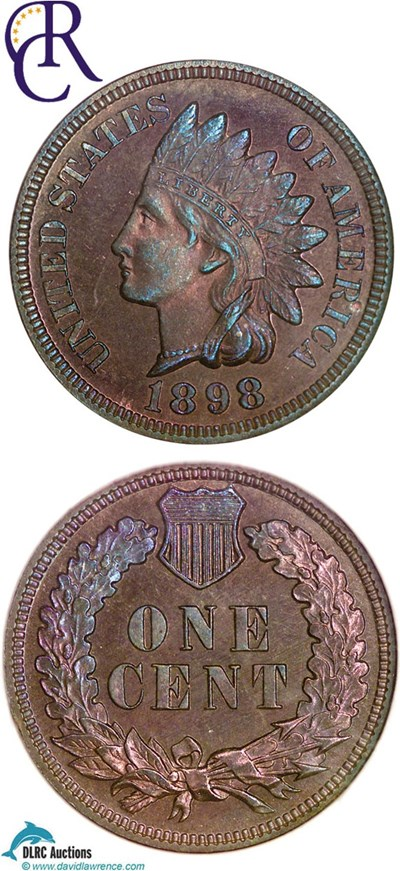Image of 1898 1c  NGC Proof 64 RB **Color** ex: Richmond Collection