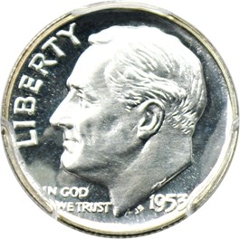 Image of 1953 10c PCGS Proof 68 CAM
