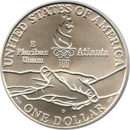 Image of 1995-D Olympic Track & Field $1 PCGS MS70 (Mercanti Signature)