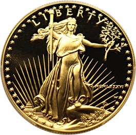 Image of 1986-W Gold Eagle $50 PCGS Proof 69 DCAM