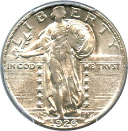 Image of 1926-D 25c PCGS/CAC MS65