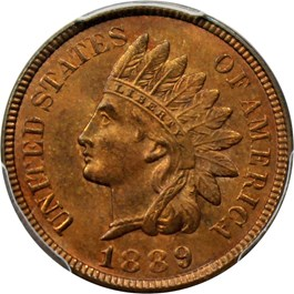 Image of 1889 1c PCGS/CAC MS65 RB