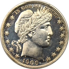 Image of 1900 50c PCGS/CAC Proof 63
