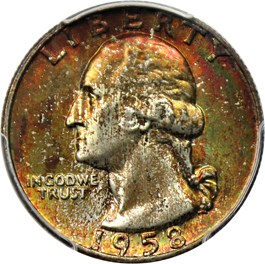 Image of 1958-D 25c PCGS/CAC MS67+