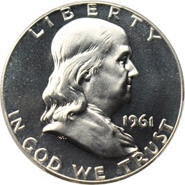 Image of 1961 50c PCGS/CAC Proof 68 CAM